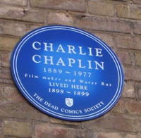 Charlie Chaplin Blue Plaque London