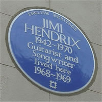Jimi Hendrix Blue Plaque London