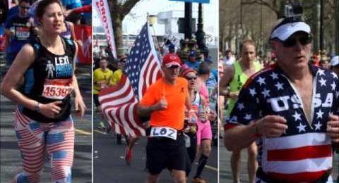 London Marathon runners pay tribute to Boston
